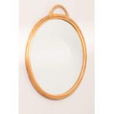 Specchio da parete rotondo in rattan (Ø53,5 cm) Daro, immagine in miniatura 3