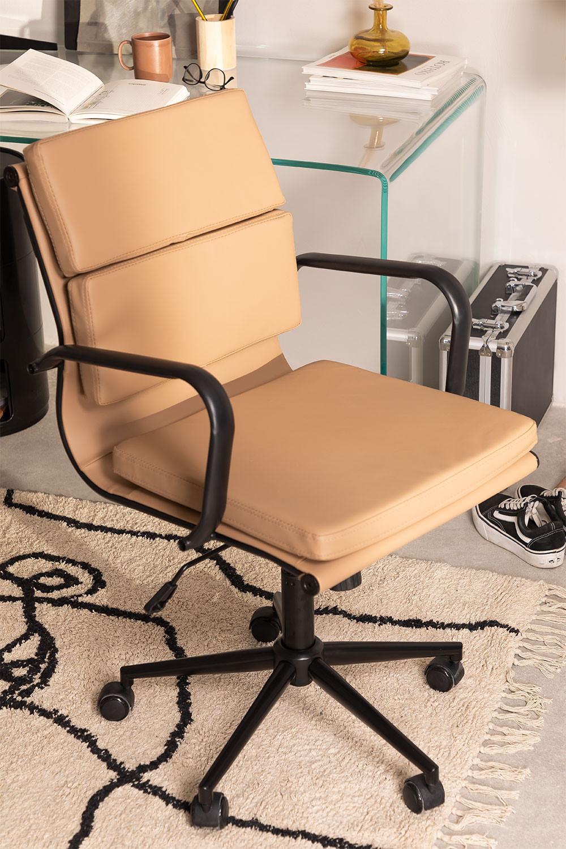 Sedia da ufficio con ruote Fhöt Black, immagine della galleria 1