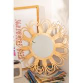 Specchio da parete rotondo in rattan (Ø60,6 cm) Kraty, immagine in miniatura 1