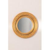 Specchio rotondo da parete in rattan (Ø41 cm) Menit, immagine in miniatura 2