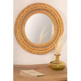 Specchio rotondo da parete in rattan (Ø41 cm) Menit, immagine in miniatura 1