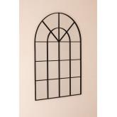 Specchio da Parete in Metallo Effetto Finestra (135x92 cm) Paola, immagine in miniatura 2