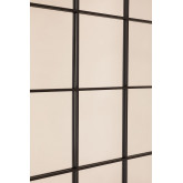 Specchio da parete in metallo effetto finestra (122x122 cm) Sofi, immagine in miniatura 4