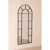Specchio da Parete in Metallo Effetto Finestra (180x80 cm) Diana, immagine in miniatura 2