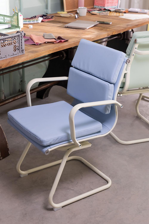 Sedia da ufficio con braccioli Mina Colors, immagine della galleria 1