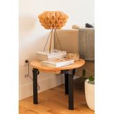 Tavolino in Legno di Frassino e Acciaio Almuh Ø60 cm, immagine in miniatura 1