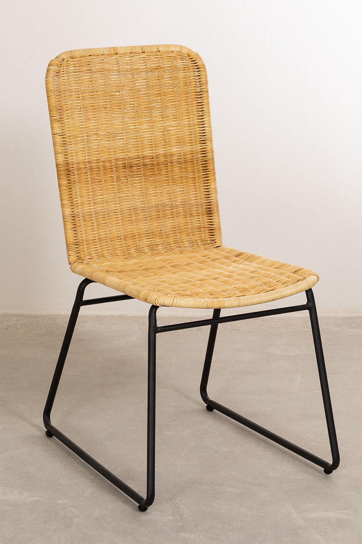 Sedia da pranzo in rattan Vali Style, immagine della galleria 1