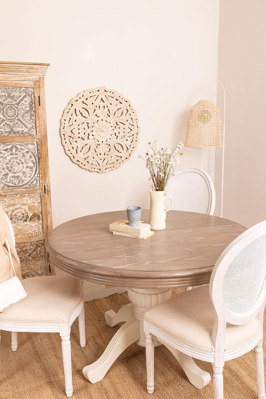 Tavolo da pranzo allungabile rotondo in legno (120-180x76 ...