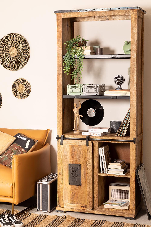 Credenza Uain in legno con quattro cassetti, immagine della galleria 1