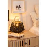 Lampada da tavolo Tish in carta intrecciata, immagine in miniatura 2