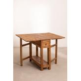 Tavolo pieghevole in legno riciclato Abura, immagine in miniatura 2