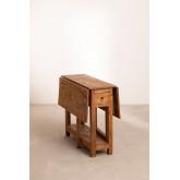 Tavolo pieghevole in legno riciclato Abura, immagine in miniatura 3