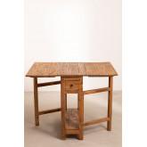 Tavolo pieghevole in legno riciclato Abura, immagine in miniatura 4