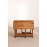 Tavolo pieghevole in legno riciclato Abura, immagine in miniatura 5
