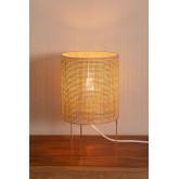 Lampada da Tavolo in Rattan e Metallo Muit, immagine in miniatura 3