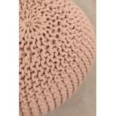 Puff rotondo lavorato a maglia grigia, immagine in miniatura 3
