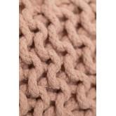 Puff rotondo lavorato a maglia grigia, immagine in miniatura 4