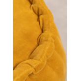 Pouf rotondo in velluto Kelli, immagine in miniatura 3