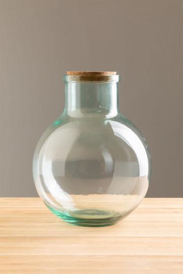 Vaso Madox in vetro riciclato trasparente