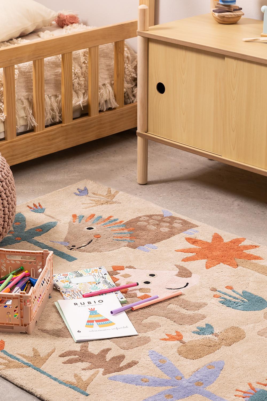 Tappeto in cotone (135x100 cm) Jungli Kids, immagine della galleria 1