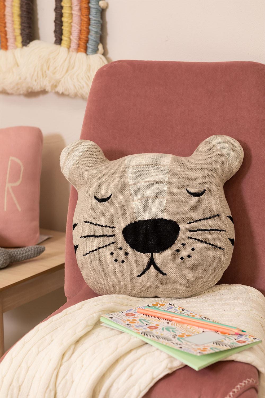 Cuscino rotondo in cotone per bambini Anuky, immagine della galleria 1
