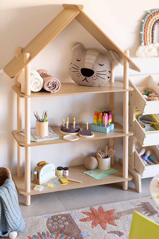 Mensola Zita Kids con 3 ripiani in legno, immagine della galleria 1