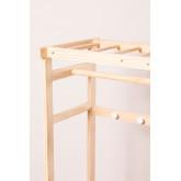 Appendiabiti in legno Roket con ruote e scarpiera Kids, immagine in miniatura 4