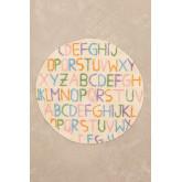 Tappeto rotondo in cotone (Ø104 cm) Letters Kids, immagine in miniatura 2