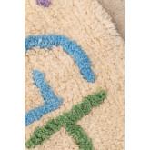 Tappeto rotondo in cotone (Ø104 cm) Letters Kids, immagine in miniatura 3