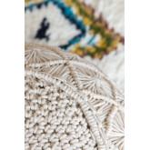Pouf rotondo in cotone in macramè Kasia, immagine in miniatura 5