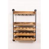 Portabottiglie da parete in legno Wenni, immagine in miniatura 2