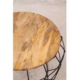 Tavolino Rotondo in Legno Riciclato e Acciaio (Ø72 cm) Koti, immagine in miniatura 3