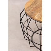 Tavolino Rotondo in Legno Riciclato e Acciaio (Ø72 cm) Koti, immagine in miniatura 4