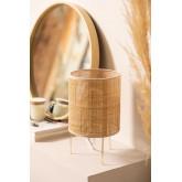 Lampada da Tavolo in Rattan e Metallo Muit, immagine in miniatura 1