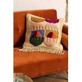 Fodera per cuscino in cotone tauja e iuta, immagine in miniatura 1