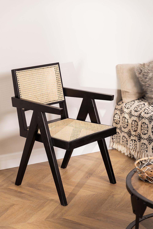 Sedia Lali Wood con Braccioli, immagine della galleria 1