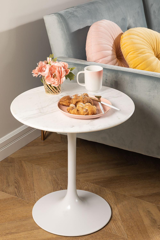 Tavolino rotondo in marmo (Ø50 cm) Tuhl, immagine della galleria 1