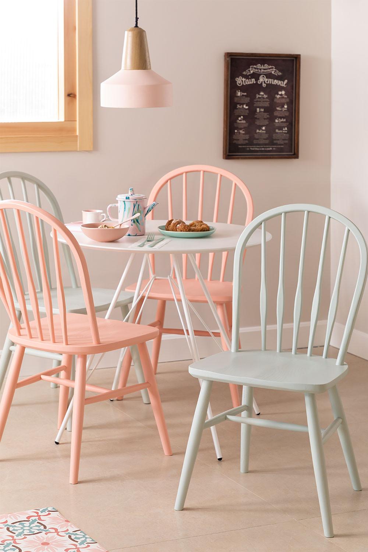 Sedia da pranzo in legno Lorri Colors, immagine della galleria 1