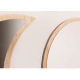 Specchi da parete in legno 5 pezzi Estel, immagine in miniatura 4