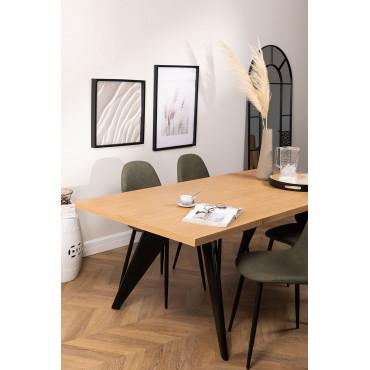 200x100 cm SKLUM Tavolo da pranzo rettangolare in vetro e acciaio inossidabile Ubal Trasparente - Scegli Un Colore