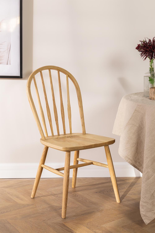 Sedia da pranzo in legno Lorri Natural, immagine della galleria 1