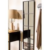 Specchio da Parete in Metallo Effetto Finestra (132x38 cm) Rania, immagine in miniatura 1