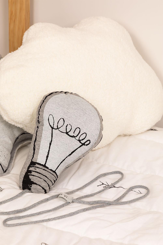 Cuscino in cotone fluorescente Lary Kids, immagine della galleria 1