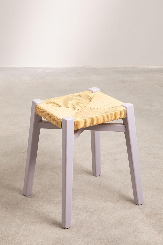 Sgabello basso in legno Uish, immagine della galleria 1