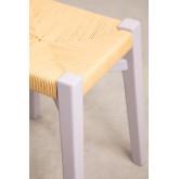Sgabello basso in legno Uish, immagine in miniatura 3