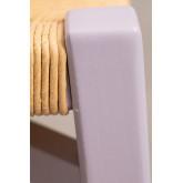 Sgabello basso in legno Uish, immagine in miniatura 4