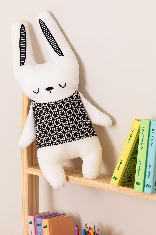 Coniglio di peluche in cotone Wisker Kids, immagine della galleria 1