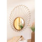 Specchio da parete in metallo (61,5x61 cm) Bïggy, immagine in miniatura 1