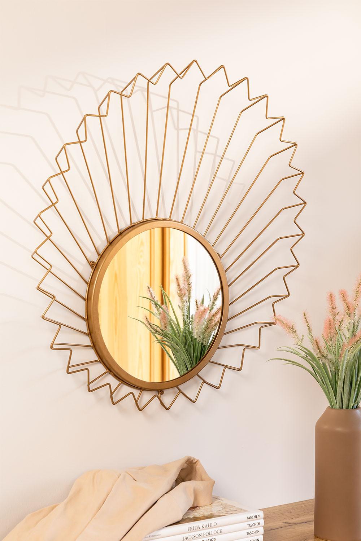 Specchio da parete in metallo (61,5x61 cm) Bïggy, immagine della galleria 1