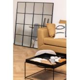 Specchio da parete in metallo effetto finestra (122x122 cm) Sofi, immagine in miniatura 1